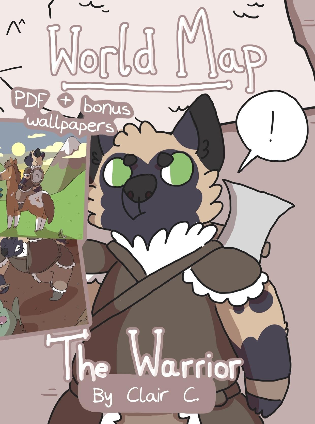 World Map: The Warrior PDF & Wallpaper Bundle