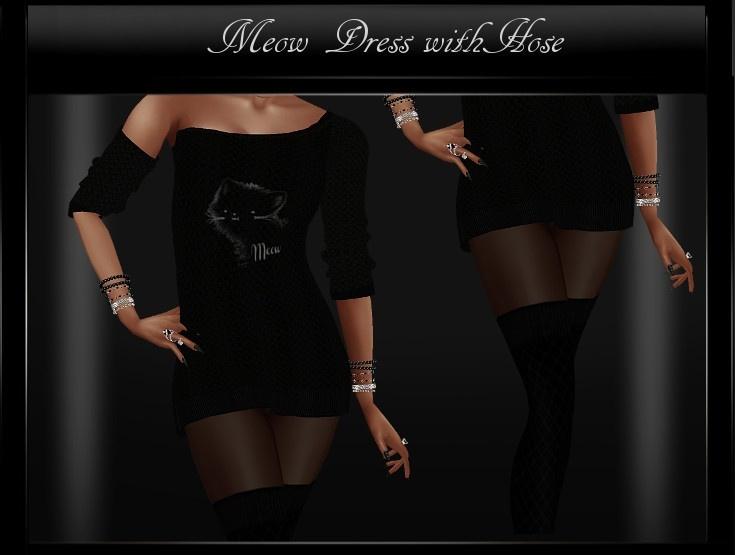 Meow Dress with Hose IMVU