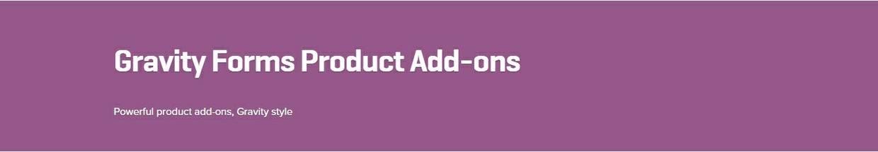 WooCommerce Gravity Forms Product Add-ons 2.10.10 Extension