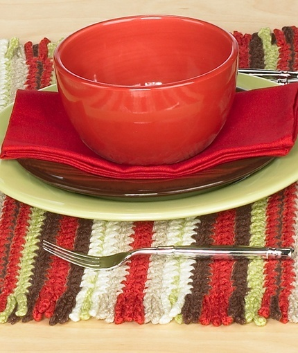 Crochet Striped Placemats