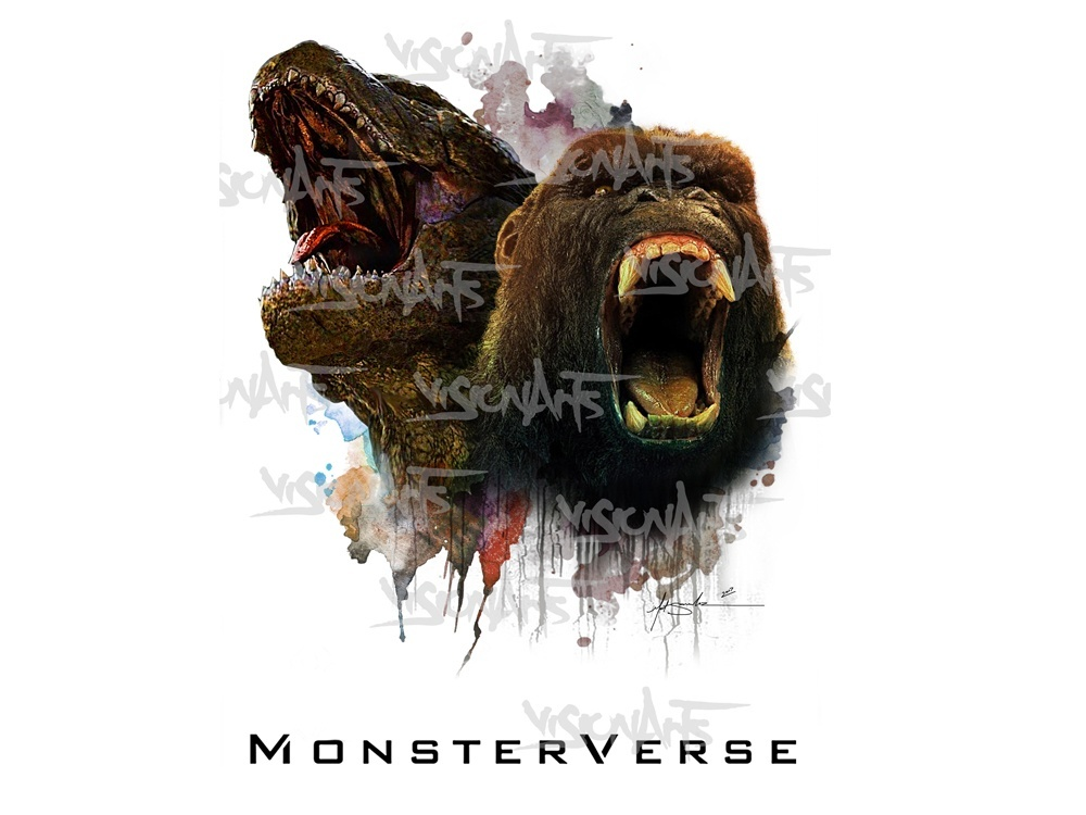 MonsterVerse Art Poster