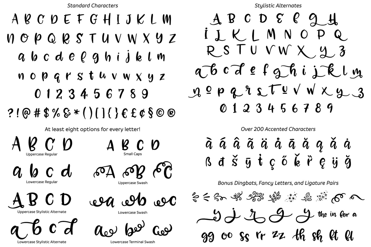 Zooky Squash: a font with alternates galore!