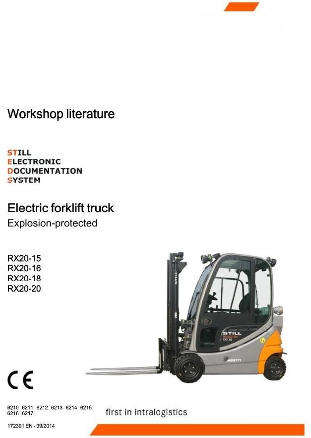 Still Explosion Protected Truck RX20-15, RX20-16, RX20-18, RX20-20: 6210-6217 Workshop Manual