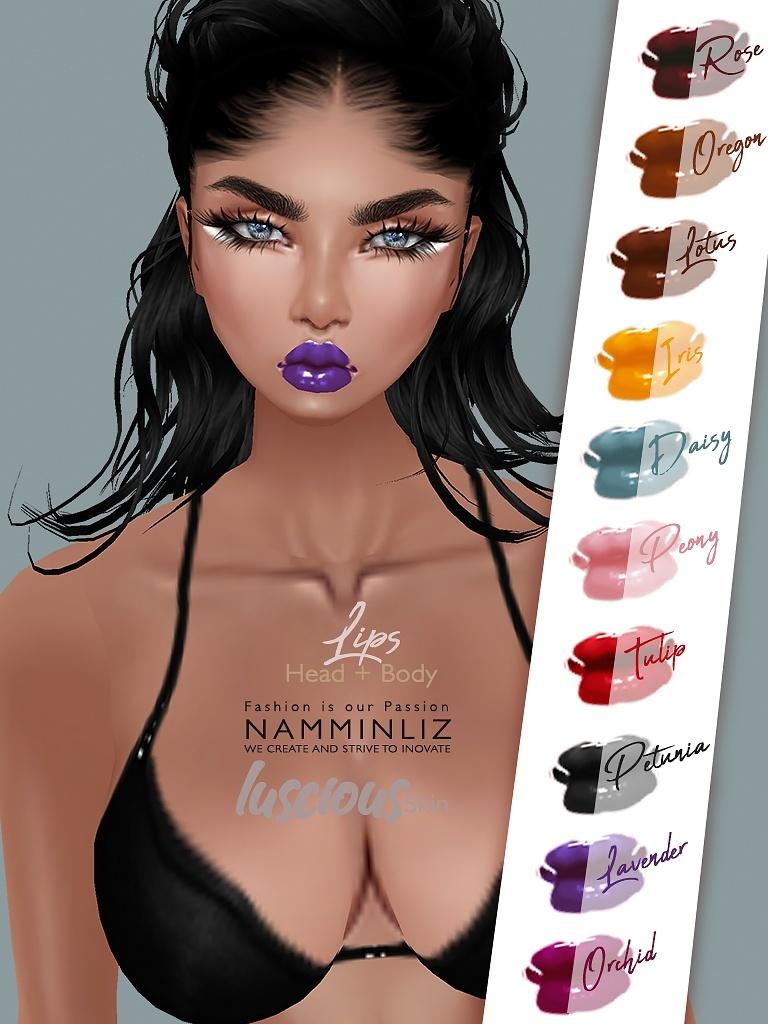 10 Luscious Lips imvu Texture PNG  to Apply on any IMVU Skin Template