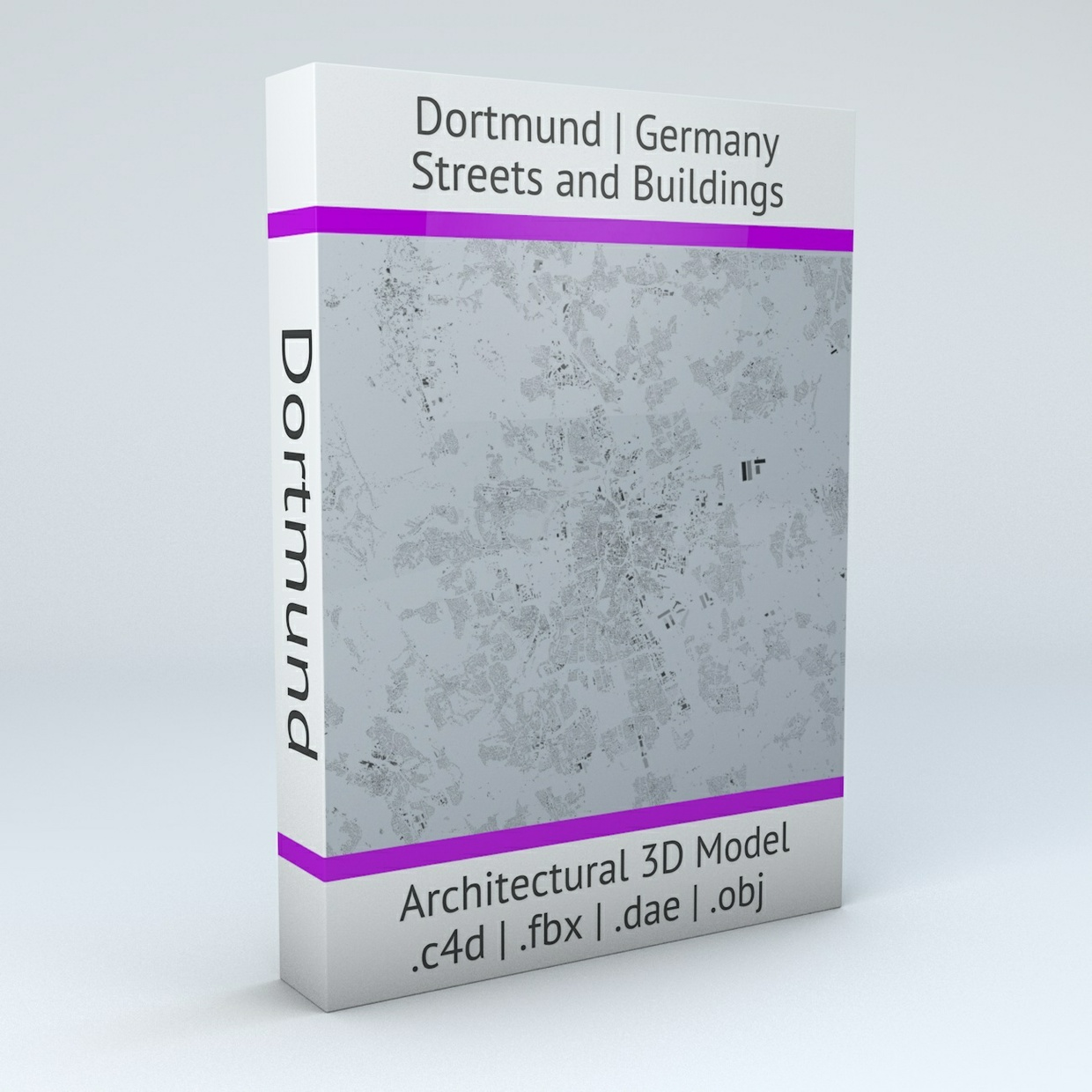 Dortmund Streets and Buildings Architectural 3D Model