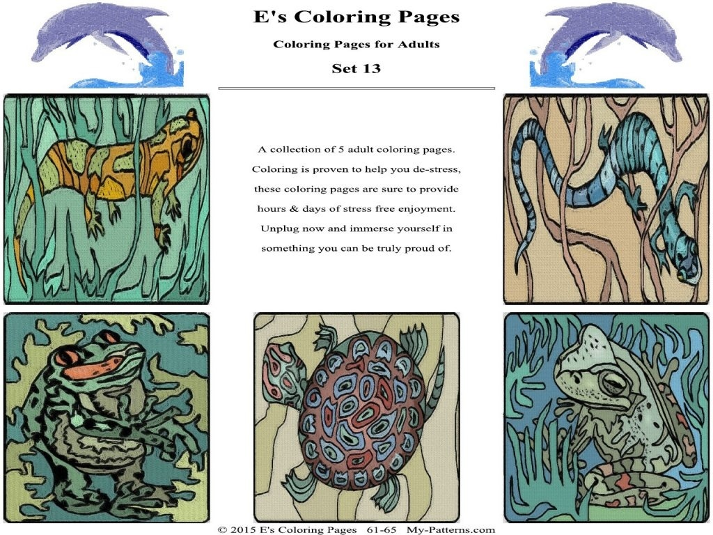 E's Coloring Pages - Set 13