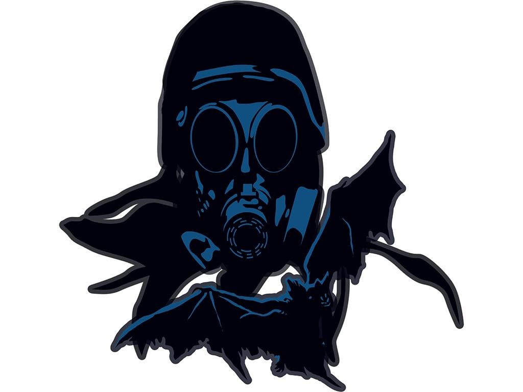 T-shirt Design 'Blue Mask Soldier'