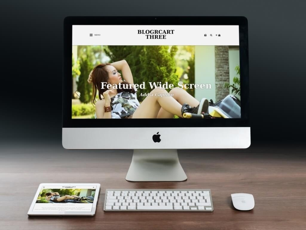BlogrCart THREE (PRO) Premade 2 in 1 Blogger Blog & Store Template with Shopping Cart