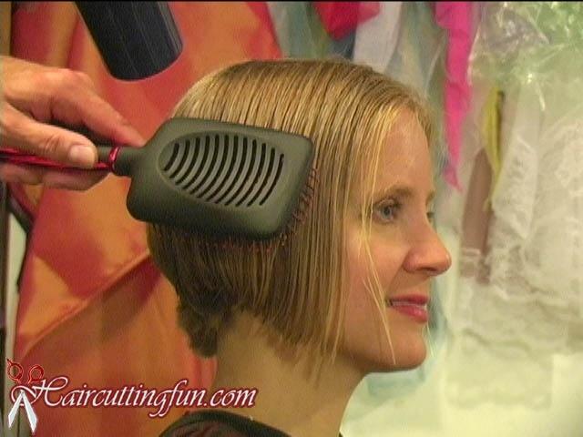 Debbie's Angled Bob Haircut
