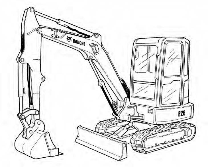 Bobcat E26 Compact Excavator Service Repair Manual Download(S/N ACRA11001 & Above)