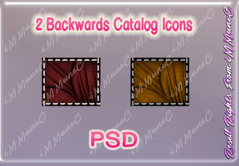 2 Backwards Catalog Icons PSD (Halloween)