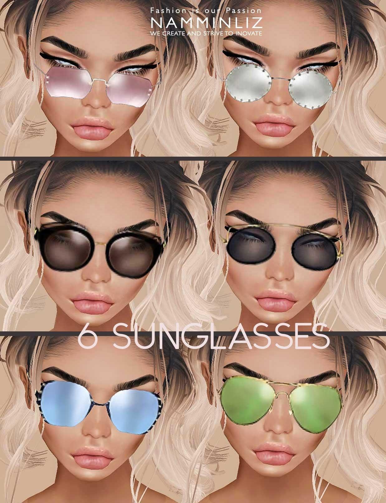 Sunglasses Accessories Full ( 1,2,3 ) 6 Textures JPG IMVU