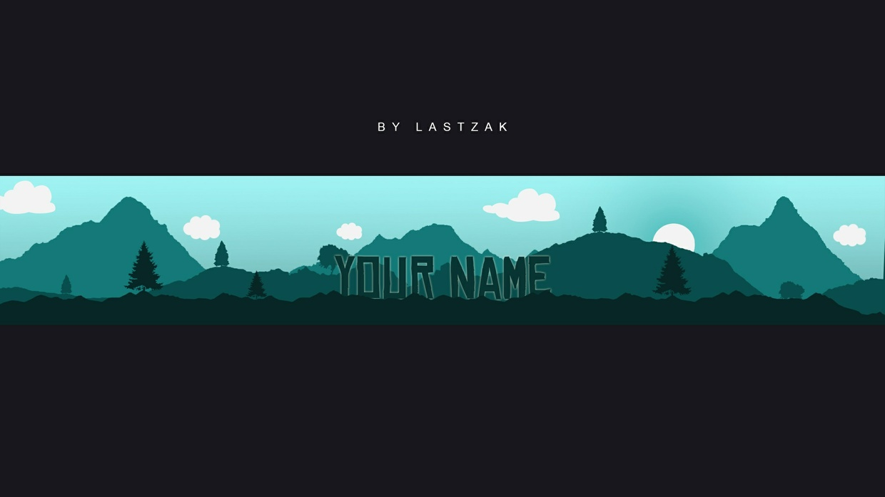 2D Silhouette Youtube Banner by LastZAK
