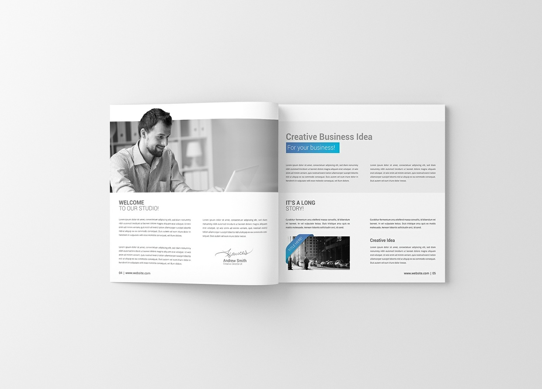 Square Magazine / Brochure Mockup