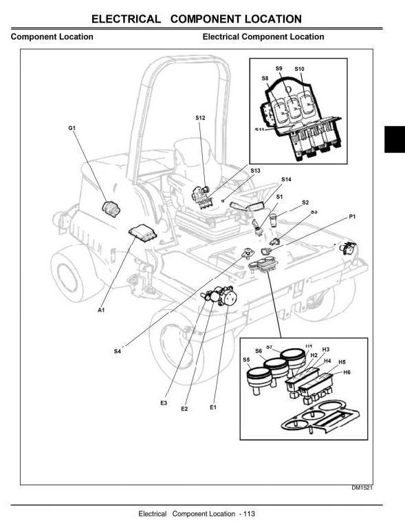 John Deere Large Area Reel Mower Model 1905 Technical Service Manual (tm2200)