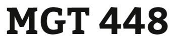 MGT 448 Week 2 Comprehensive Analysis Outline