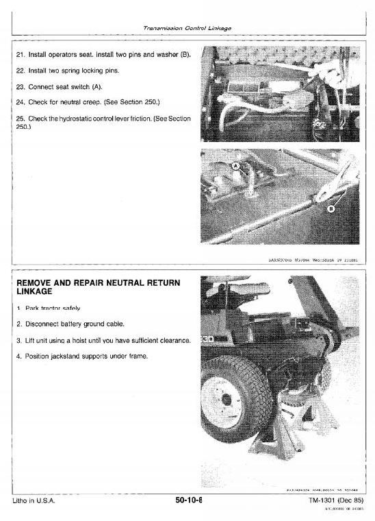 John Deere Front Mower F910, F930 Workshop Service Manual (tm1301)