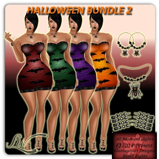 Halloween BUNDLE 2 NO RESELL RIGHTS!