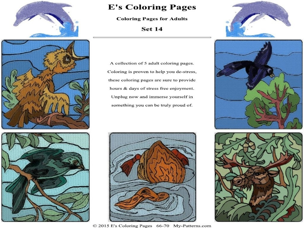 E's Coloring Pages - Set 14