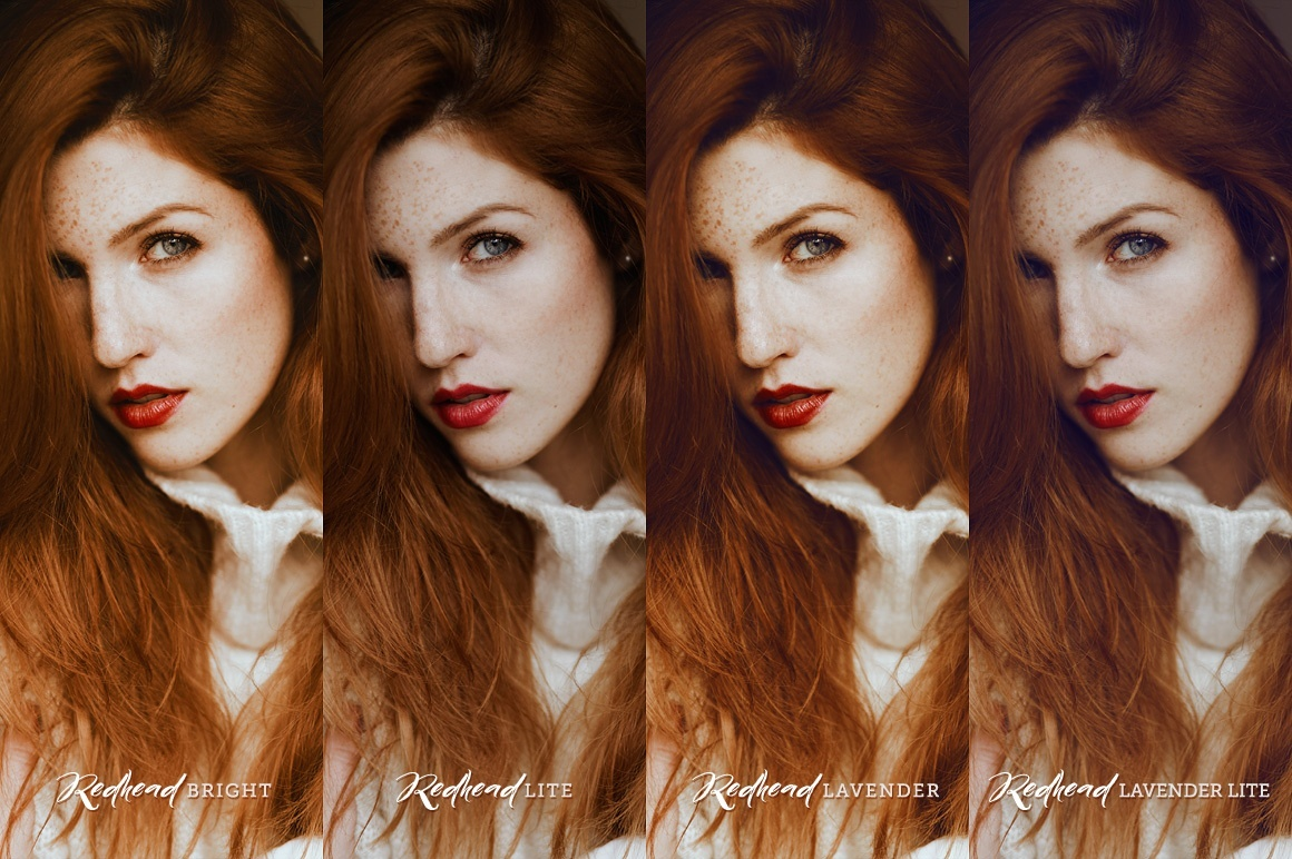 Redhead Photoshop Actions