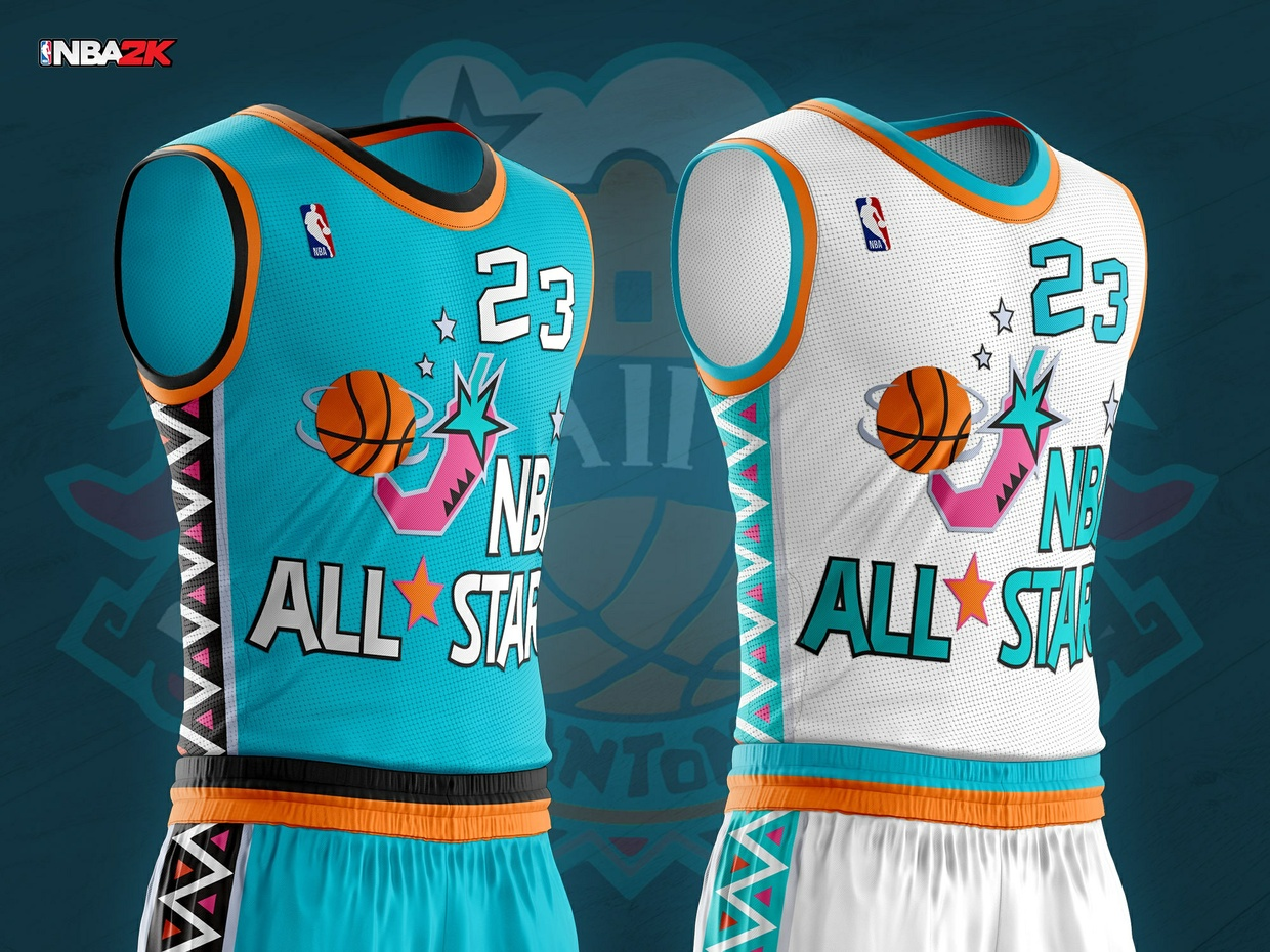 1996 NBA All Star Jersey & Arena