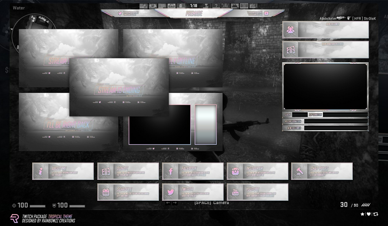 Twitch Package 'Tropical Theme'