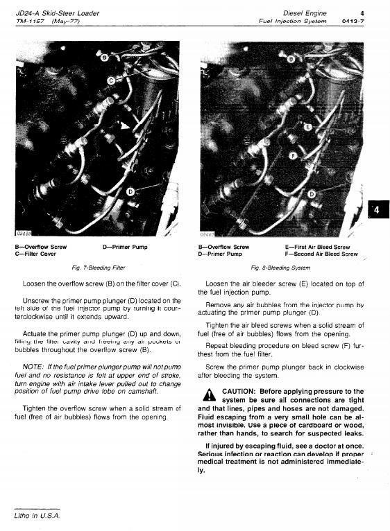 John Deere Skid Steer Loader JD24A Workshop Service Manual