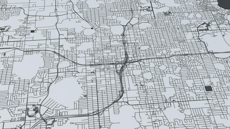 Orlando Road Network Architectural 3D Model