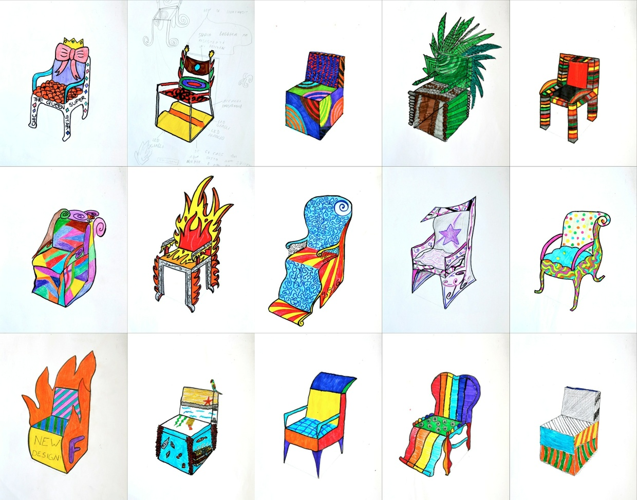 Design a chair: worksheet