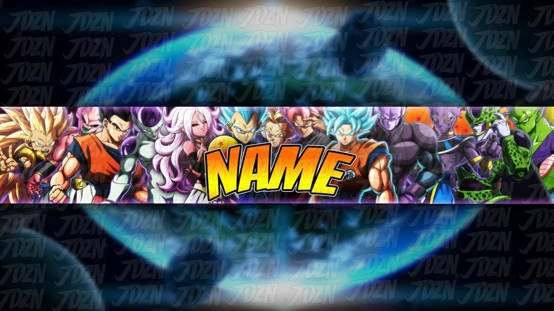 *NEW* DBFZ YouTube Banner Template [Dragon Ball 2018] - JDZN