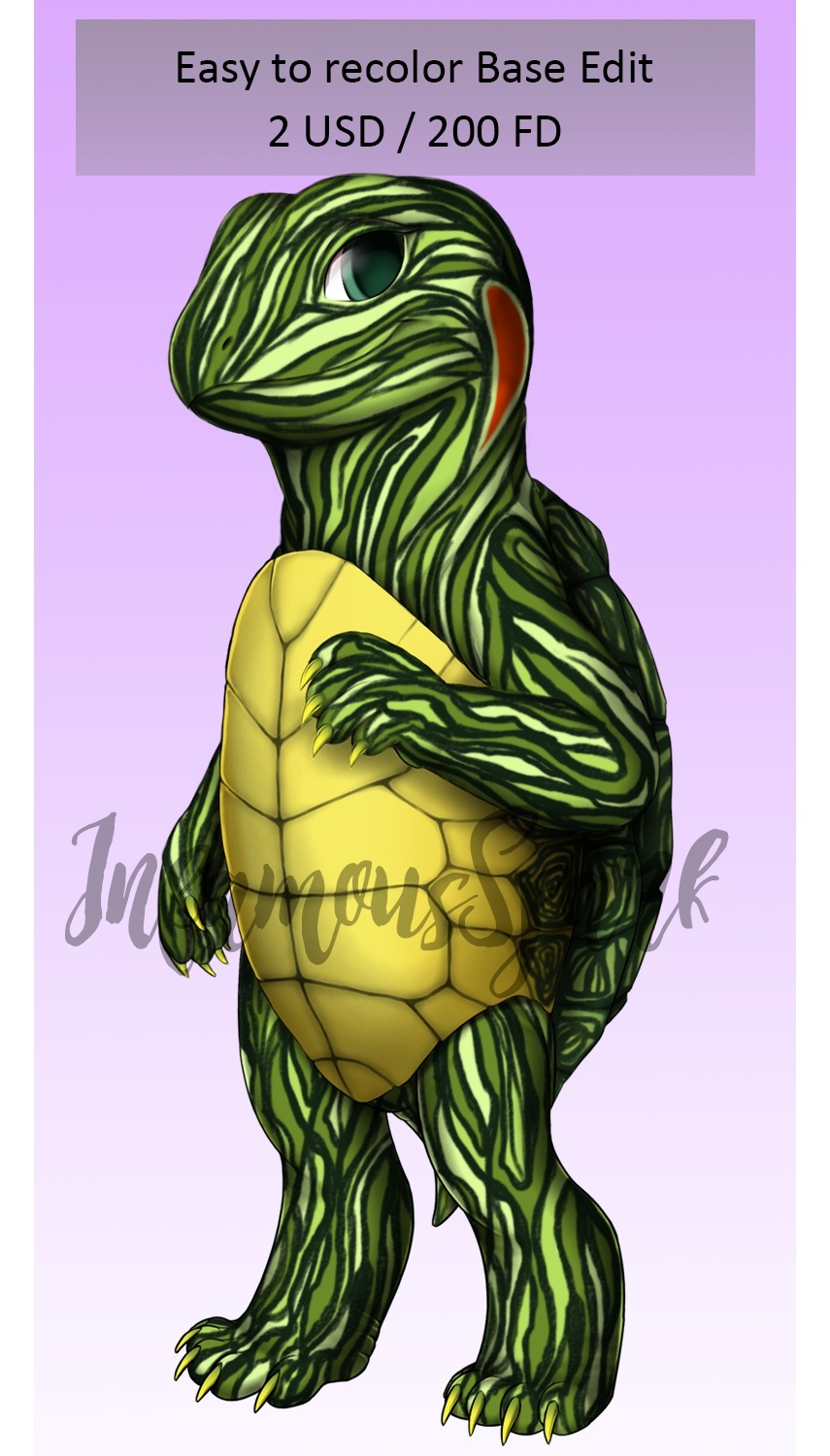 Turtle/Tortoise - Easy to recolor Furvilla Base