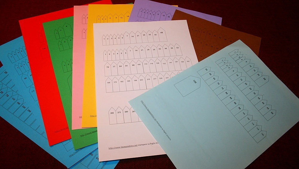frecce per contare le perle colorate Montessori bianco/nero - ARROWS FOR MONTESSORI CHAINS