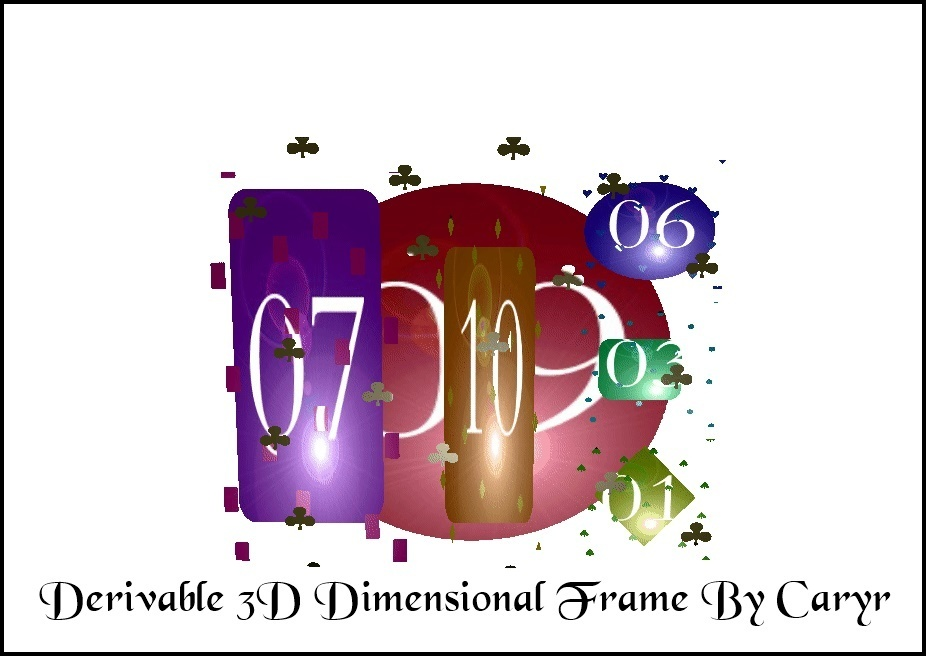 Derivable 3D Dimensional Frame By Caryr