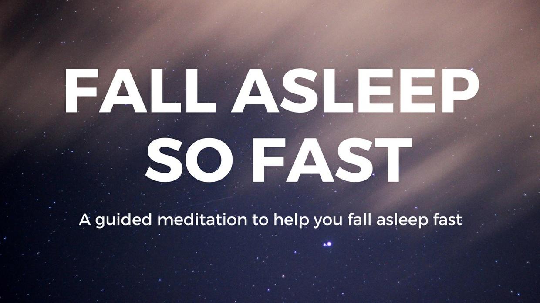 FALL ASLEEP So FAST A SIMPLE meditation to help you fall asleep fast