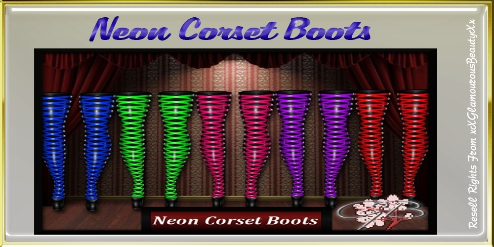 Neon Corset Boots Catty Only!!!