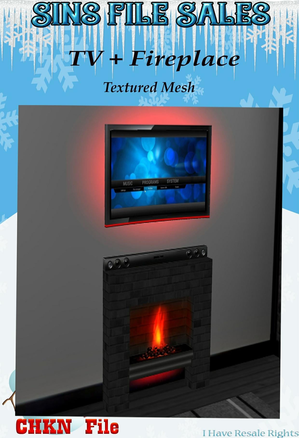 TV+Fireplace Mesh (CHKN)