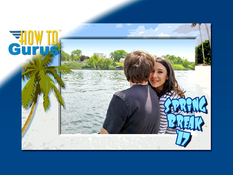 How To Make a Custom Spring Break Photo Frame in Photoshop Elements 15 14 13 12 11 Tutorial