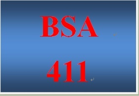 BSA 411 Entire Course