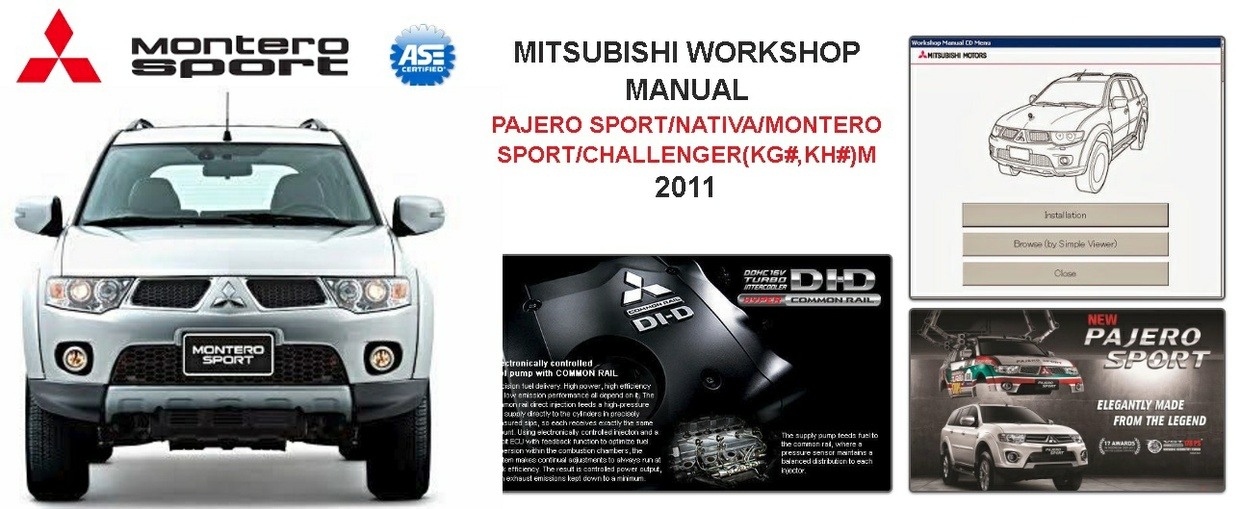 Mitsubishi Montero Sport 2011 Workshop Manual