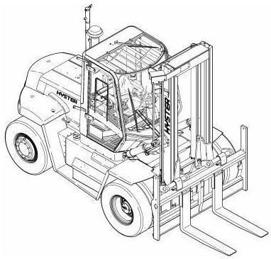 Hyster Forklift Truck F019 Series: H13.00XM, H14.00XM, H16.00XM, H12.00XM-12EC Service Manual