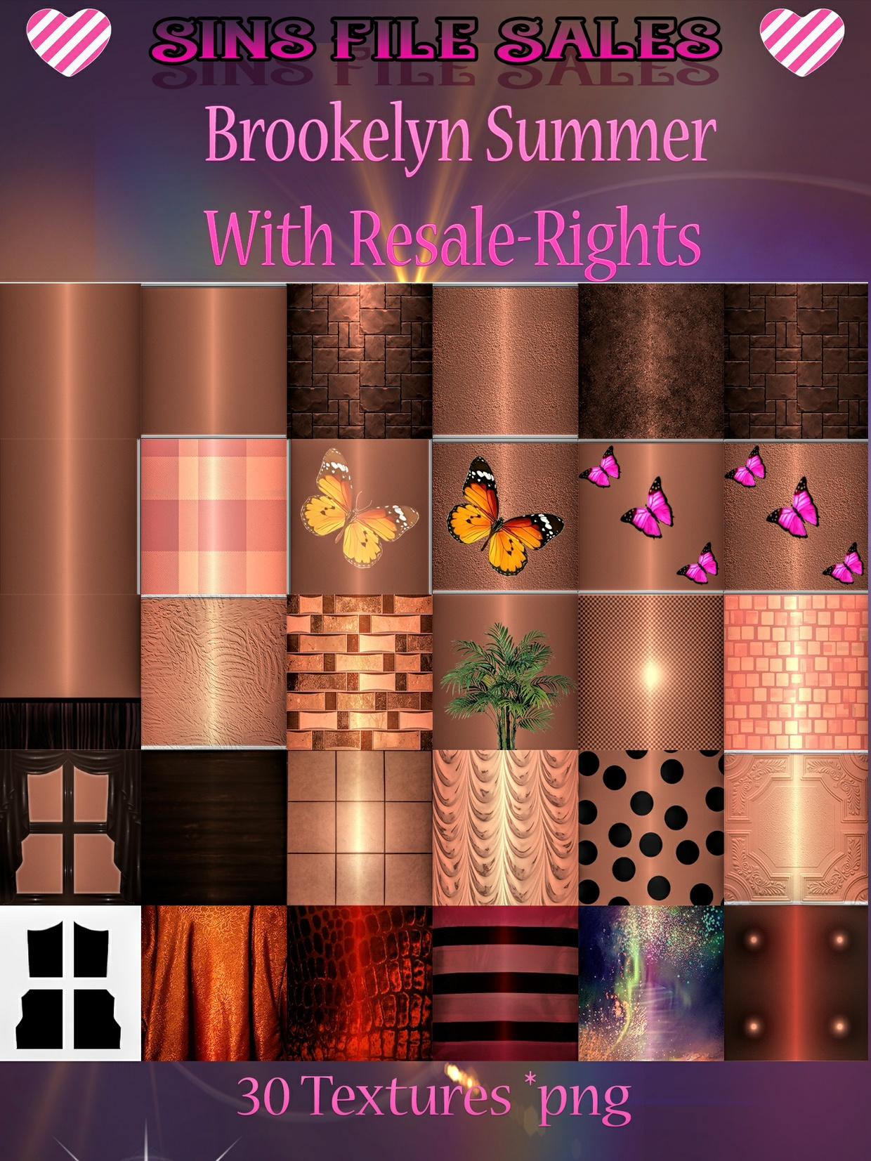 Brookelyn Summer Texture Pack * Includes Resale*