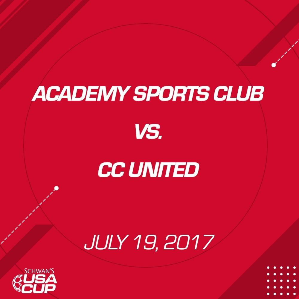 Boys U15 Gold - July 19, 2017 - Academy Sports Club vs CC United