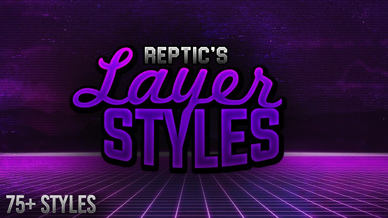 Insane Layer Styles Pack! 75+ Styles