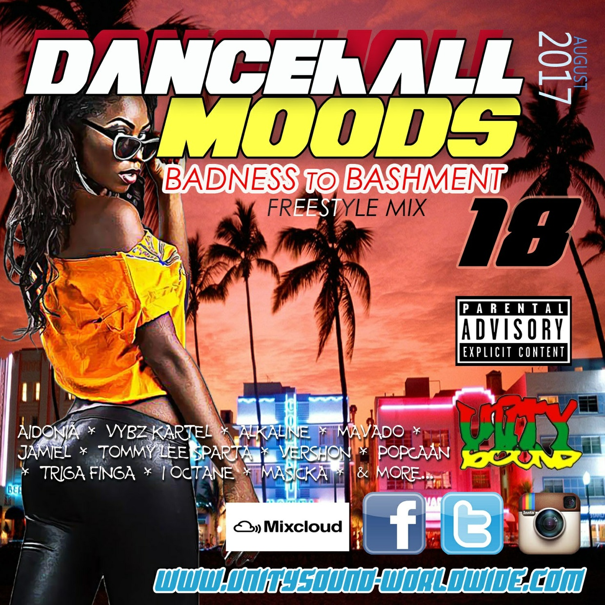 [Multi-Tracked Download] Unity Sound - Dancehall Moods 18 - Badness to Bashment Freestyle Mix 2017
