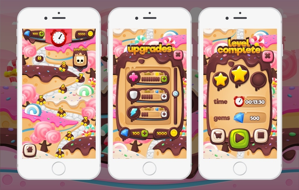 Chocolate Candy - Game GUI