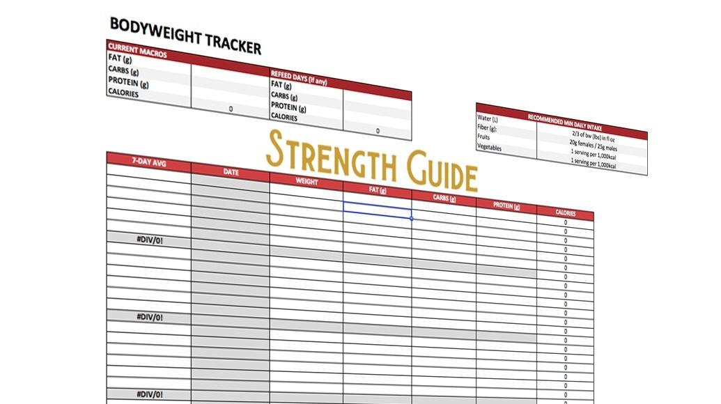 Bodyweight Tracker & Nutrition Calculator