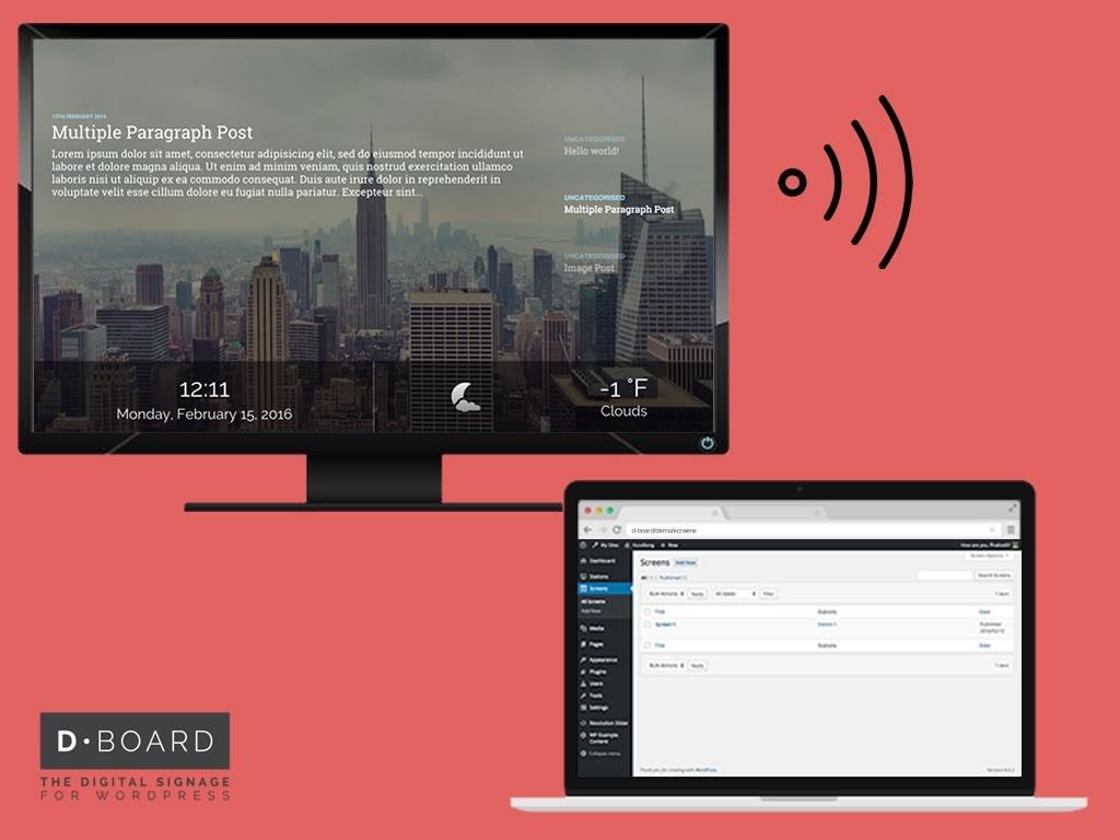 D-Board - Digital Signage Wordpress Pack