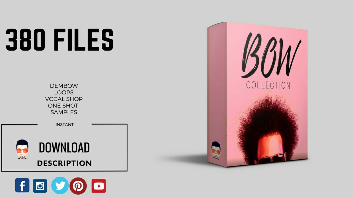 """OFFERT Sample Pack """" BOW COLLECTION"""" 225MB OF LOOPS / BUY 1 GET 2 FOR FREE"""