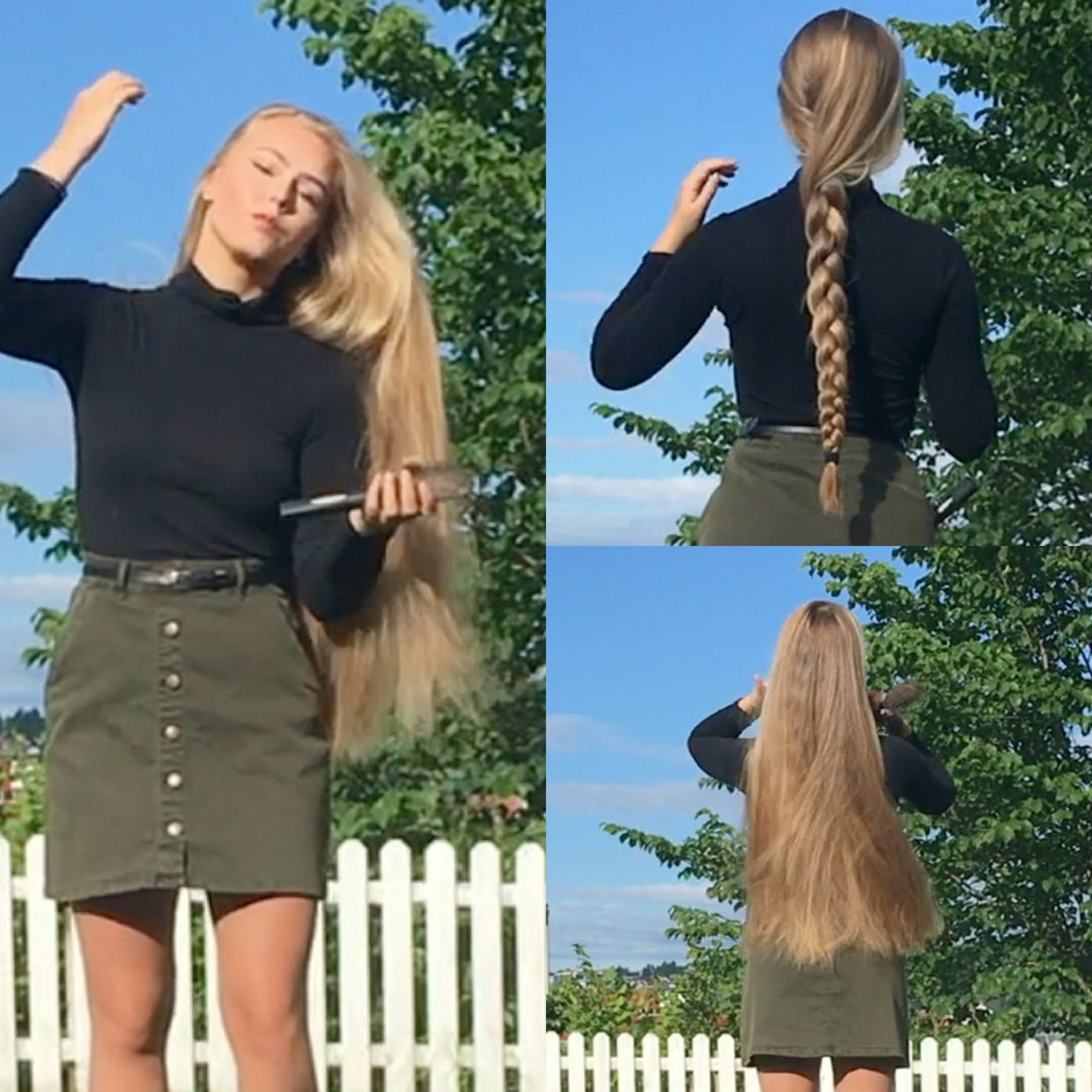 VIDEO - Norwegian blonde outside