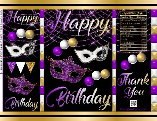 printable-potato-chip-bags-birthday-party-favors-masquerade
